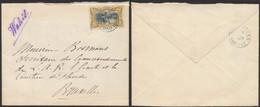 """Congo Belge - Timbres Mols : N°25 Seul Sur Lettre Obl Simple Cercle """"Léopoldville"""" (1905) > Bruxelles, Secrétaire Des Co - 1894-1923 Mols: Covers"""