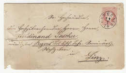 Austria Postal Stationery Letter Cover Posted 1870 Unterach To Linz B201001 - Stamped Stationery