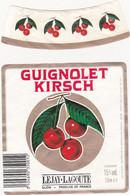 Etiquette GUIGNOLET KIRSCH (Cerises) LEJAY-LAGOUTE - DIJON - Fruits & Vegetables