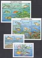 E774 GUYANA FAUNA FISH & MARINE LIFE TURTLES SHARKS WHALES !!! 4KB MNH - Vita Acquatica