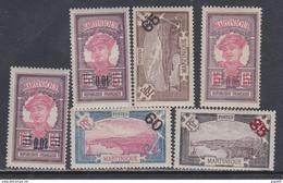 Martinique N° 86 / 91 X Timbres Surchargés, La Série Des 6 Valeurs Trace De Charnière Sinon TB - Unused Stamps