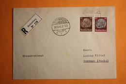EINGESCHRIEBENER BRIEF VON BETTEMBOURG NACH CAMBURG. - 1940-1944 Occupazione Tedesca