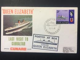 GIBRALTAR 1968 Queen Elizabeth Illustrated Cover `Last Visit To Gibraltar` With Paquebot Marks - Gibraltar