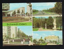 BRD - AK - Schwedt - Platz Der Befreiung, Kreiskrankenhaus, Park Am Kulturhaus - Schwedt
