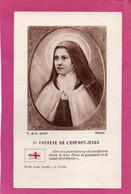 Image Pieuse , Relique  - Ste THERESE DE L'ENFANT- JESUS  . Etoffe Ayant Touché à La Sainte - Religión & Esoterismo