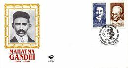 South Africa - 1995 Mahatma Gandhi FDC # SG 886-887, Mi 971-972 - FDC