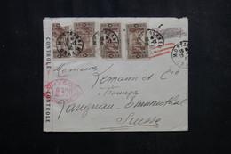 ALGÉRIE - Enveloppe De Mostaganem Pour La Suisse En 1940 Avec Contrôle Postal - L 72371 - Storia Postale