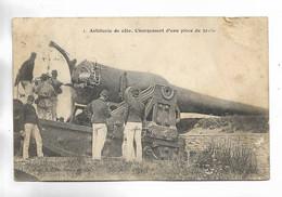 MILITARIA - Artillerie De Côte. Chargement D' Une Pièce De 32 C/m - Manoeuvres