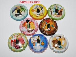 Série De 8 Capsules De Champagne  - GENERIQUE ( Festivités - Octobre 2020) - Collections