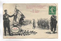 MILITARIA - 18ème Bon CHASSEURS A PIED. Oblitérée Au Départ De Stenay - Regiments