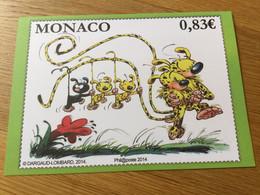 Monaco : N°2921 (le Marsupilami) Sur Encart Spécial Numéroté - Monaco
