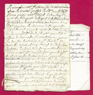 Liasse De Manuscrits Du XVIIIe Siècle - Cantal - Saint-Flour - Protagonistes Dénommés Debonafos Et Combes - Manuskripte