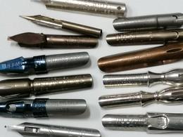 LOTTO 13 PENNINI ANTICHI  PERFETTI  PLUME, NIBS, PENNINO  NIB - Pens
