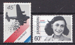Nederland - Bezetting En Bevrijding - Voedseldropping/Anne Frank - MNH - NVPH 1198-1199 - Otros
