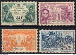 Océanie N° 80 - 83 Exposition Coloniale De Paris - Used Stamps