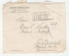 Isidor Geiduschek, Iam Company Letter Cover Registered Posted 1926 Iam To Ortrand (Kr. Liebenwerda) Via Dresden B201001 - 1918-1948 Ferdinand, Charles II & Michael