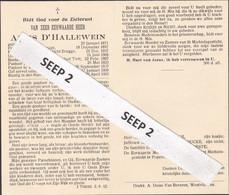 DP Z.E.H.Aloïs D'HALLEWEIN Geluwe 1871-1953 Poperinge (Brugge Doofstommengesticht, Tielt, Waardamme, Westvleteren) - Religion &  Esoterik