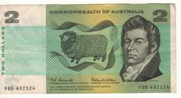 AUSTRALIA  $ 2  P38a   Commonwealth Of Australia   1st Signature   ( John McArthur, Sheep - William Farrer, Wheat ) - Emissioni Governative Decimali 1966-...