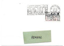 CHATEAU = 28 MAINTENON 1980 = FLAMME CONCORDANTE N° 2082 = SECAP Illustrée 'VILLE TOURISTIQUE ' - Mechanical Postmarks (Advertisement)