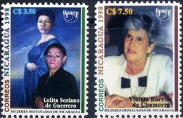 Nicaragua 1998, Famous Women, MNH Stamps Set - Nicaragua
