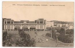 DAKAR - Vf  1923 POSTCARD - La Gare Et L'Arsenal - Sent From MATADI - CONGO BELGE To ISEGHEM - BELGIQUE - Senegal