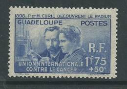Guadeloupe N° 139  X  Pierre Et Marie Curie  Trace De Charnière SinonTB - Unused Stamps