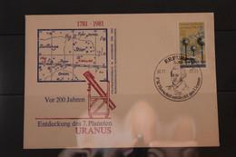 DDR; Entdeckung Des URANUS, SST Erfurt 1981 - Astronomia