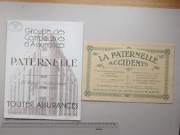 BUVARD Ancien Grand Format: Assurances LA PATERNELLE Accident Lot 2 Différents - Agence De WASSY (52) - Bank En Verzekering