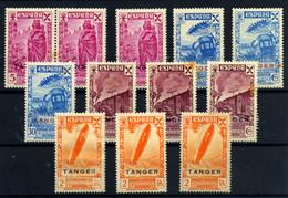 Tánger (Beneficencia) Nº 17, 19/20, 22. Año 1943 - Wohlfahrtsmarken