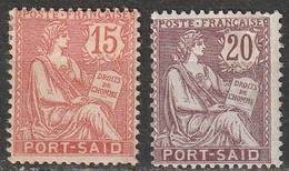 Port-Said N° 26, 27 * - Unused Stamps