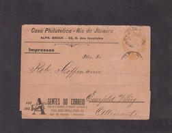 Entier Postal Rio De Janeiro Pour Eiserfeld (Sieg) Allemagne - Postal Stationery