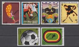 Soccer World Cup 1974 - PARAGUAY - Set 6v Ovp MUESTRA MNH - 1974 – Alemania Occidental