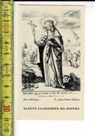 KL 7666 - SAINTE CATHERINE DE SIENNE - Devotion Images