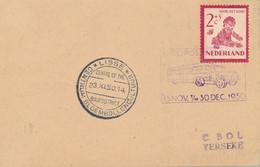 Nederland - 1950 - 2 Cent Kind Op Kaart Met Autopostkantoor Stempel Em Lisse Centrum Bloembollencultuur - Briefe U. Dokumente