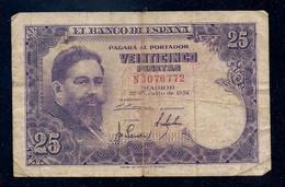 ESPAÑA - BILLETE DE 25 PESETAS DE 1954 - ISAAC ALBENIZ - 25 Pesetas