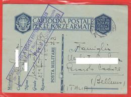 Franchigia Posta Militare N° 73 Da Sergente  A Perarolo Di Cadore Belluno 1941 - Militärpost (MP)