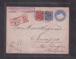 1895. Recommandé (Einschreiben) Aachen Pour Eiserfeld (D) - Covers & Documents