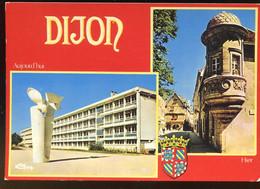 CPM 21 DIJON Hier Et Aujourd'hui Lycée Montchapet Hôtellerie De La Croix De Fer Et Hôtel De Berbis - Dijon