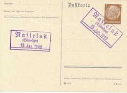 NASIELSK (Südostpr.)   -  1940  ,   Postnebenstempel , Landpoststempel - Machine Stamps (ATM)
