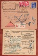 Einschreiben Reco, Nachnahme, Marianne, Als Timbres Taxe Portomarken, Lyon Nach Saint Etienne 1945 (98024) - Segnatasse