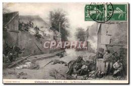 CPA Chateaudun 18 Octobre 1870 La Barricade Tournee - Chateaudun