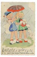 CPA ILLUSTREE PAR L. BONNIOL CHANSON IL PLEUT BERGERE - Other Illustrators