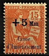 ALEXANDRIE 1927/28 - MLH - YT 81 - Caisse D'Amortissement - Neufs
