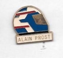 Pin's  Sport  Automobile  F 1, Casque  Bleu  Et  Blanc  ALAIN  PROST - F1