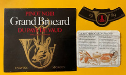 16118 -   Pinot Noir Grand Brocard  1989 Uvavins - Jacht