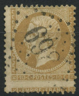 France (1862) N 21 (o) Piquage A Cheval - 1862 Napoleon III