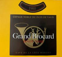 16119 -   Pinot Noir Grand Brocard  1988 Cave De La Côte Morges - Jacht