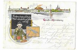 GRUSS  Aus  KONSTANZ  ( Cachet 1898 ) 2  SCANSS - Konstanz