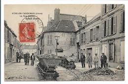 FERE EN TARDENOIS - La Rue Carnot - Travaux De Voierie ? - Fere En Tardenois