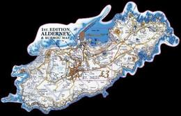Alderney 2017. 1st Edition Alderney And Burhou Map. MNH - Alderney